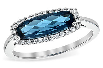 B217-59164: LDS RG 1.79 LONDON BLUE TOPAZ 1.90 TGW