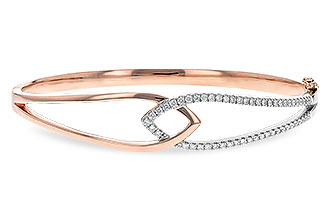 C216-70982: BANGLE BRACELET .50 TW (ROSE & WG)