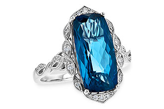 C217-55455: LDS RG 6.75 LONDON BLUE TOPAZ 6.90 TGW
