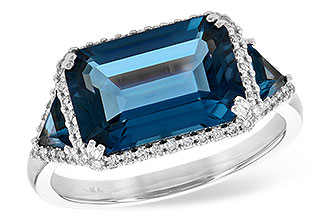 D217-56400: LDS RG 4.60 TW LONDON BLUE TOPAZ 4.82 TGW