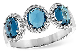 F217-54618: LDS RG 1.80 TW LONDON BLUE TOPAZ 2.02 TGW