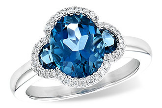 G217-60054: LDS RG 3.04 TW LONDON BLUE TOPAZ 3.20 TGW