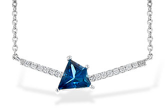 G217-60918: NECK .87 LONDON BLUE TOPAZ .95 TGW