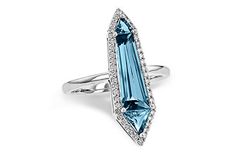 H217-55491: LDS RG 2.20 LONDON BLUE TOPAZ 2.41 TGW