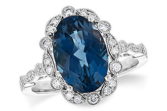 K217-56427: LDS RG 3.80 LONDON BLUE TOPAZ 4.06 TGW